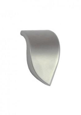 Möbelknopf Blattform Nickel Matt